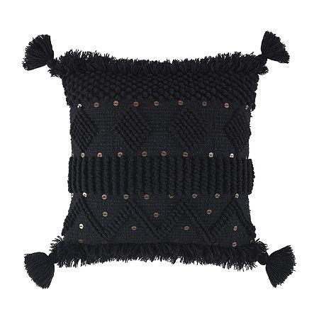 Signature Design by Ashley Mordechai Square Throw Pillow, One Size , Black