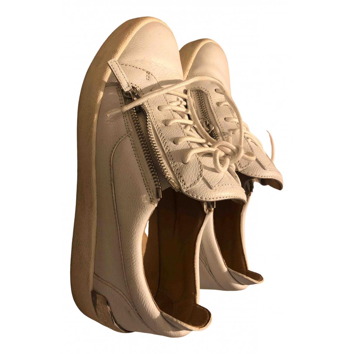 Giuseppe Zanotti - Baskets   pour homme en cuir - blanc