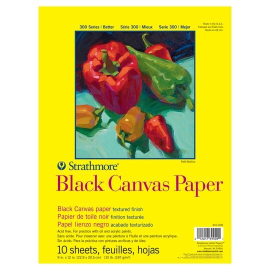 Strathmore® 300 Series Black Canvas Paper Pad | Michaels®