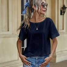 Guipure Lace Short Sleeve Tee