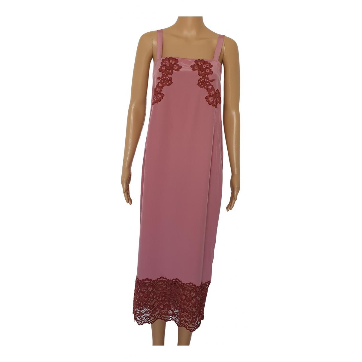 Twin Set \N Pink Silk dress for Women 40 IT