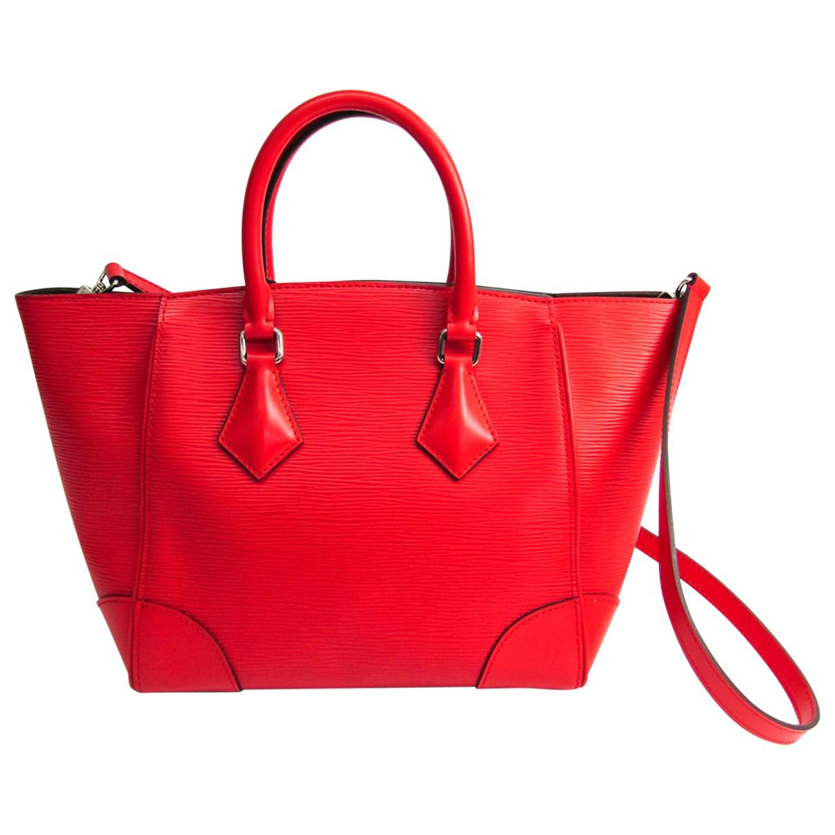 Louis Vuitton - Sac a main Phenix pour femme en cuir - rouge