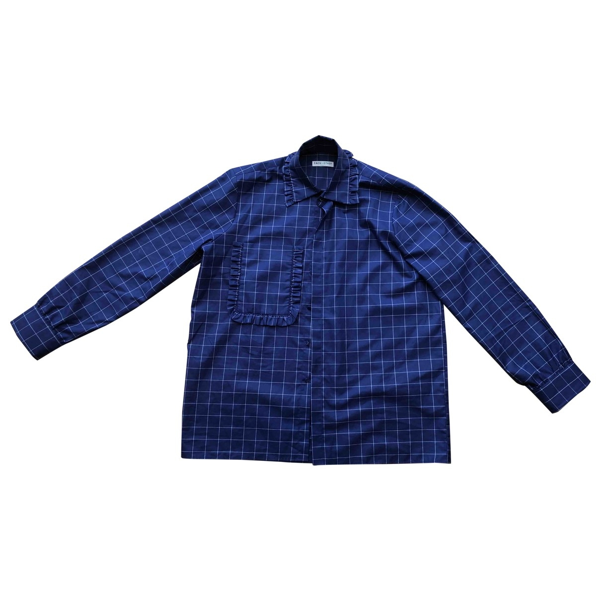 Each X Other - Top   pour femme en coton - bleu