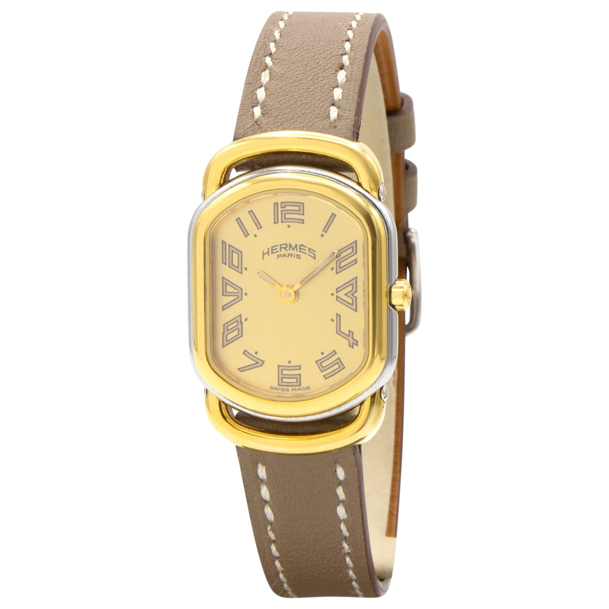 Hermes Rallye Uhr in  Gold Vergoldet