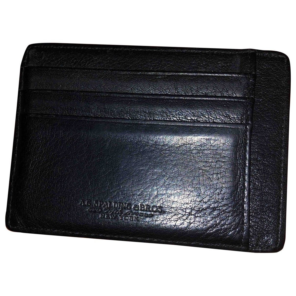 Ag Spalding & Bros - Petite maroquinerie   pour homme en cuir - noir