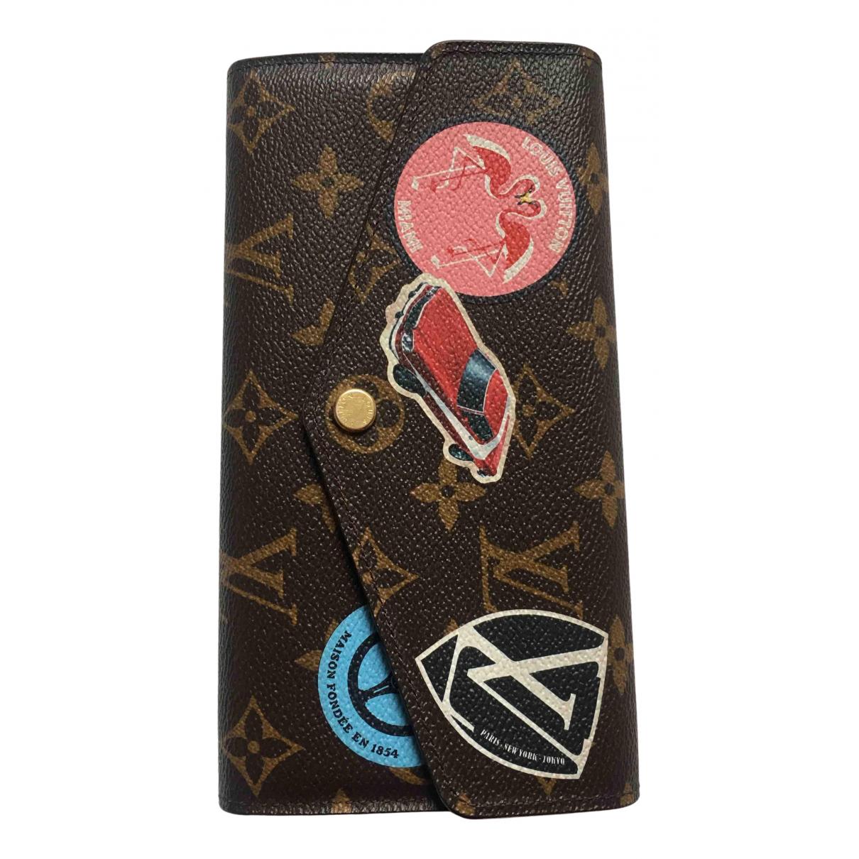 Louis Vuitton - Portefeuille Sarah pour femme en toile - multicolore