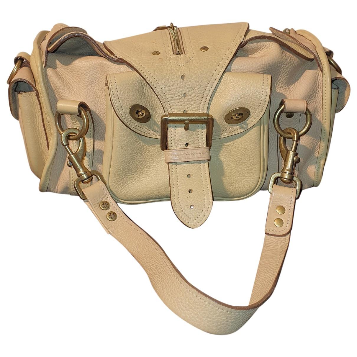Mulberry \N Handtasche in  Beige Leder