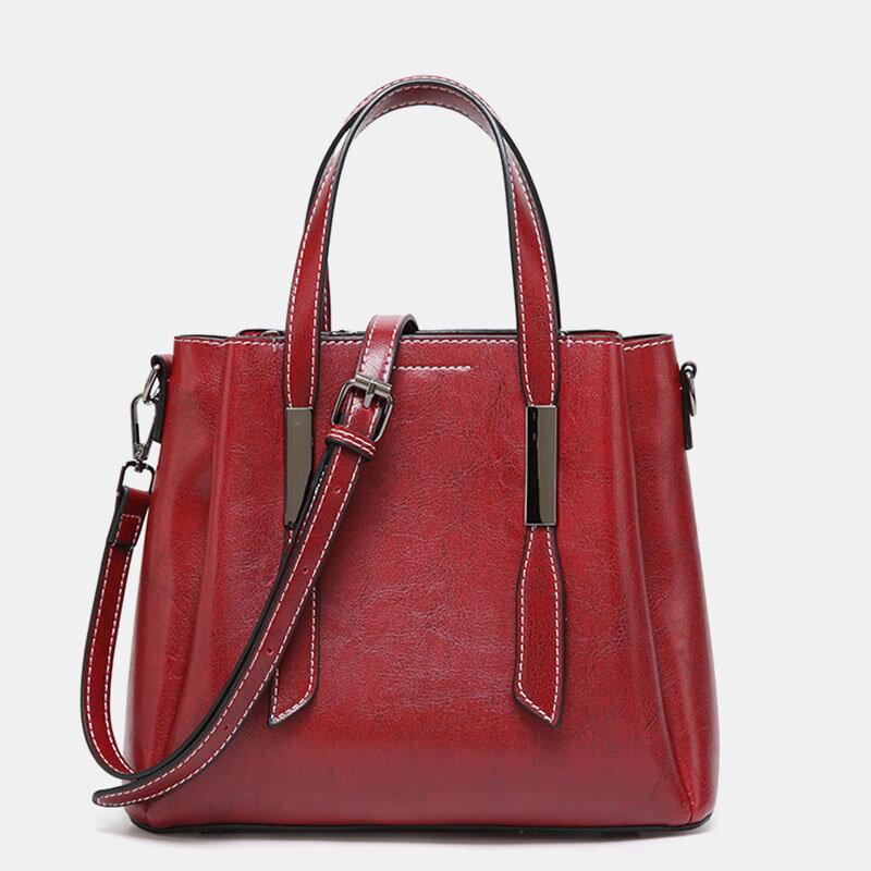 Women Casual Faxu Leather Handbag Shoulder Bag