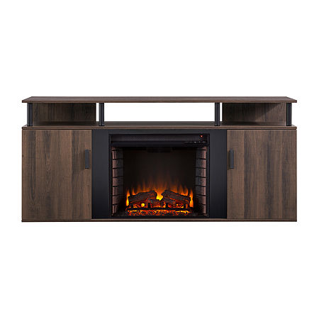 Southern Enterprises Electric Fireplace, One Size , Brown