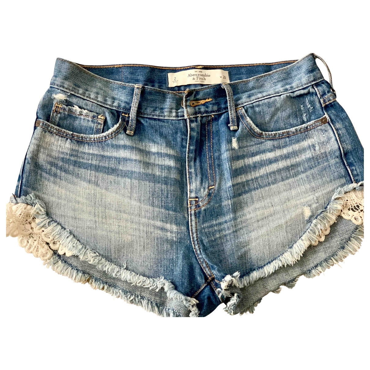 Abercrombie & Fitch \N Blue Cotton Shorts for Women 38 FR