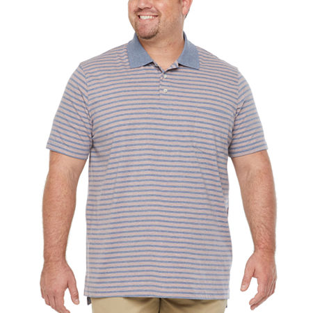 The Foundry Big & Tall Supply Co. Big and Tall Mens Short Sleeve Polo Shirt, 3x-large , Orange