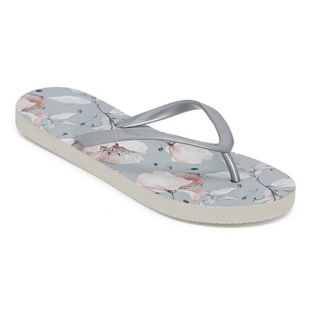Mixit Womens Printed Flip-Flops, 11/12 , Gray