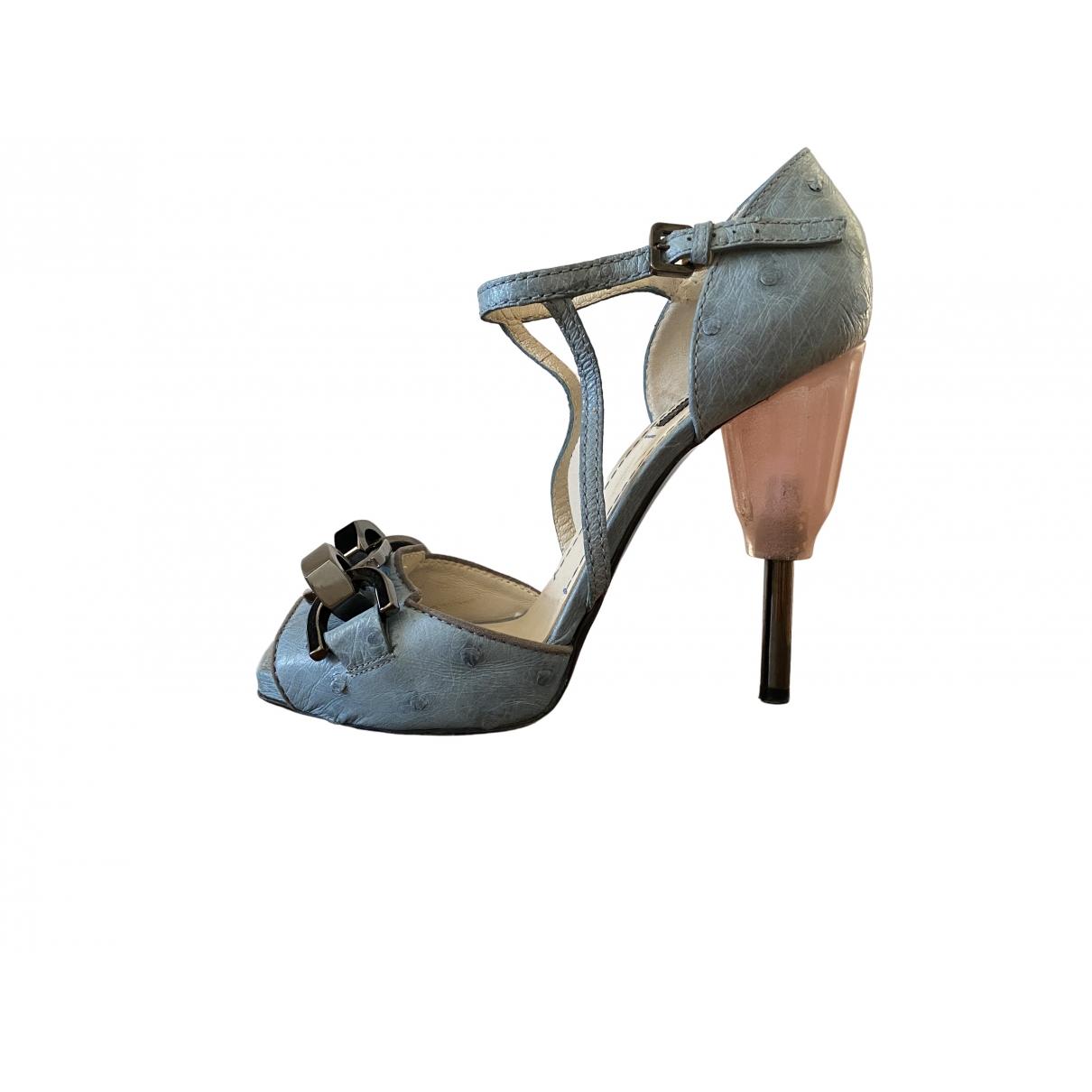 Loewe \N Sandalen in  Blau Leder