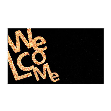 Angle Welcome Rectangular Outdoor Doormat, One Size , Multiple Colors