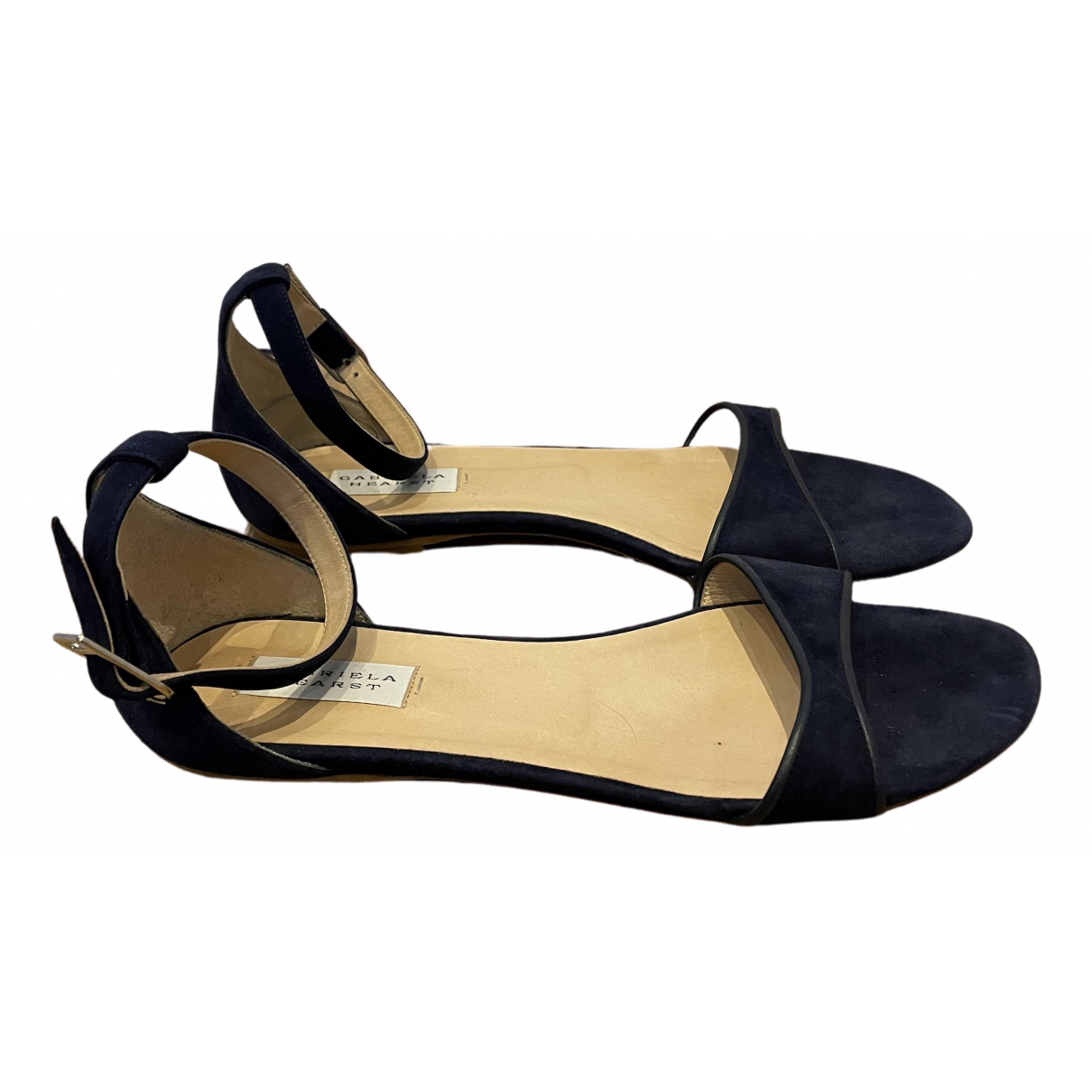 Gabriela Hearst N Navy Suede Sandals for Women 40 IT