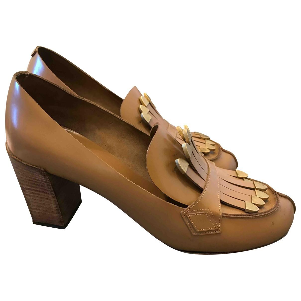 Chloé \N Beige Leather Heels for Women 38 EU