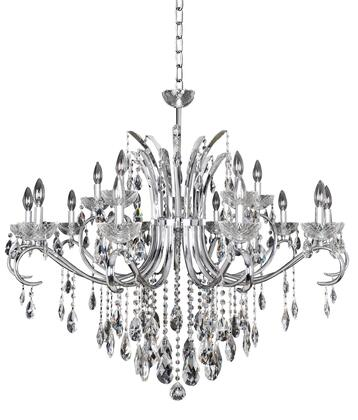 Catalani 023850-010-FR001 15-Light Chandelier in Chrome Finish with Firenze Clear