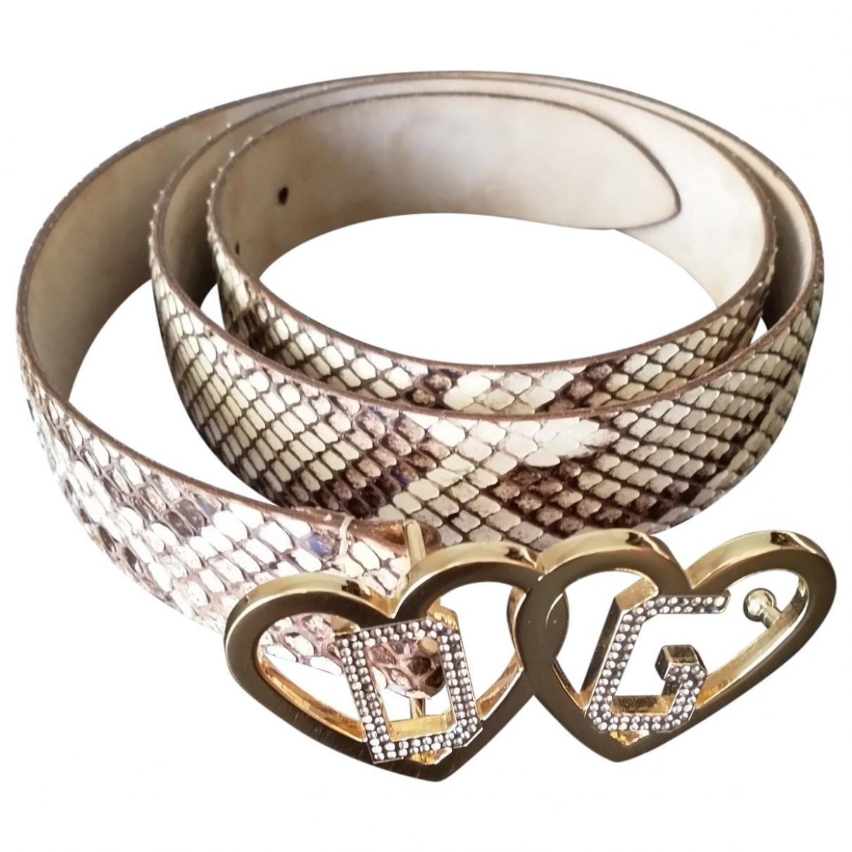 Dolce & Gabbana \N Guertel in  Braun Python