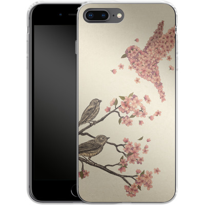 Apple iPhone 7 Plus Silikon Handyhuelle - Blossom Bird von Terry Fan
