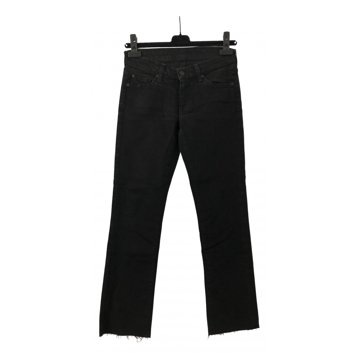 7 For All Mankind \N Black Cotton - elasthane Jeans for Women 24 US
