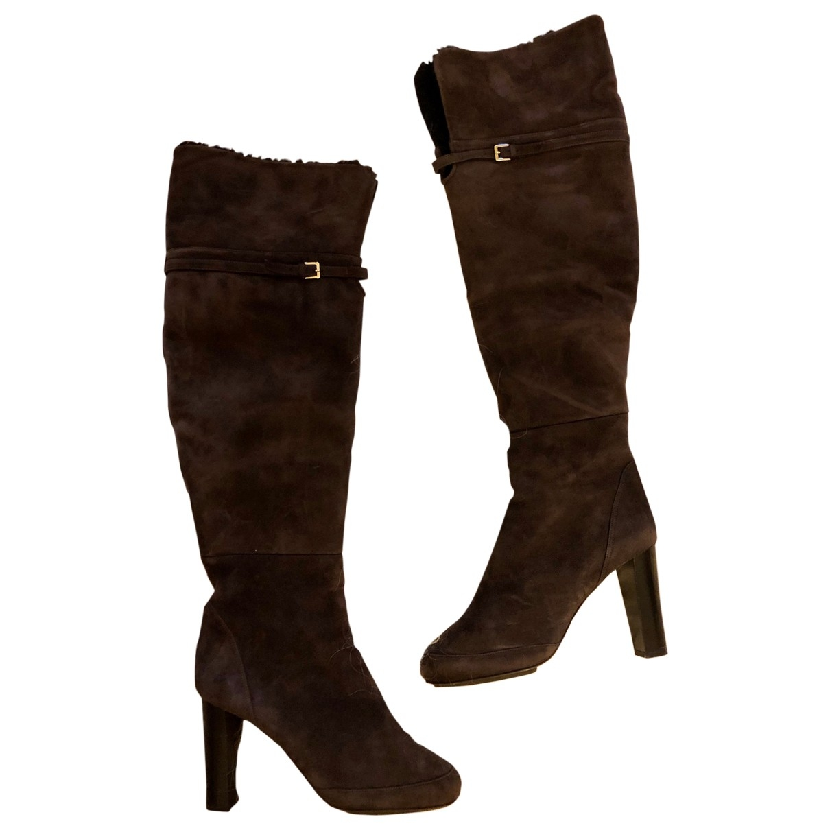 Boss \N Brown Suede Boots for Women 39 EU