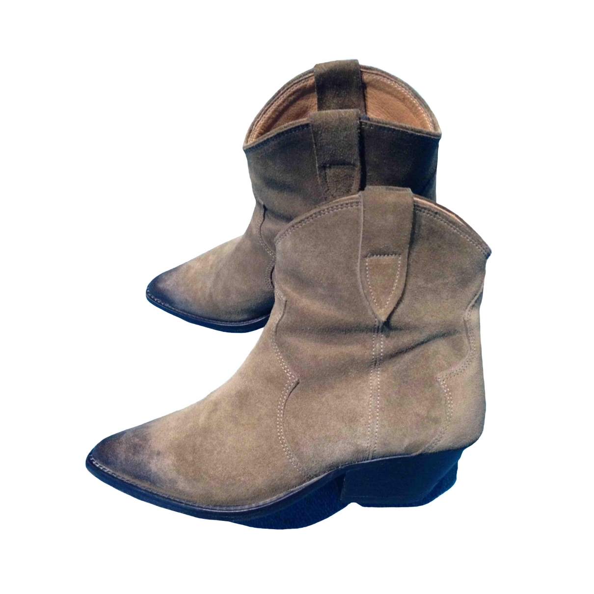 Isabel Marant \N Beige Suede Ankle boots for Women 35 EU