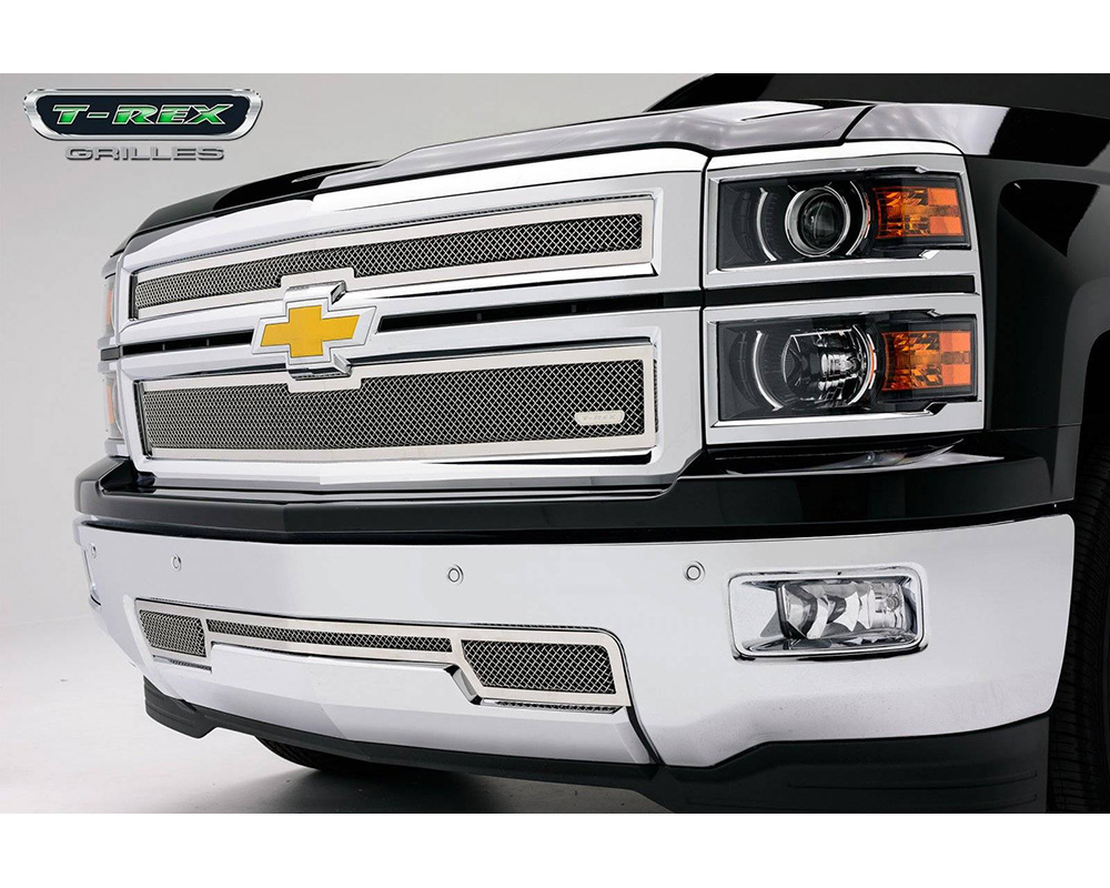 2014-2015 Silverado 1500 Z71 Upper Class Grille, Polished, 2 Pc, Overlay - PN #54120