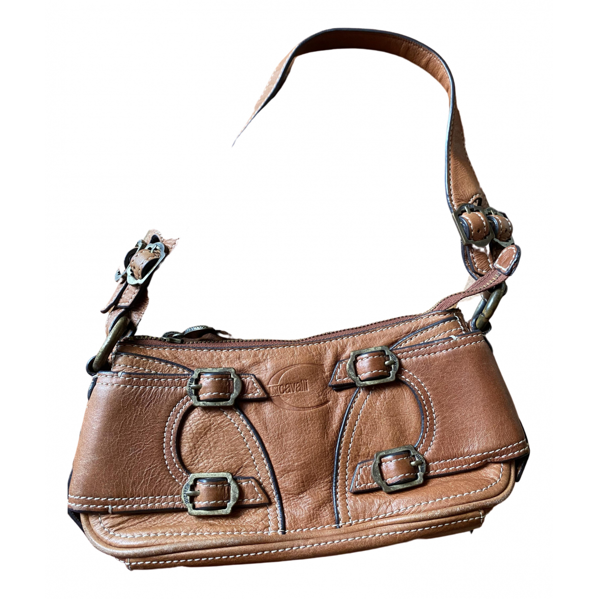 Just Cavalli \N Brown Leather Purses, wallet & cases for Women \N