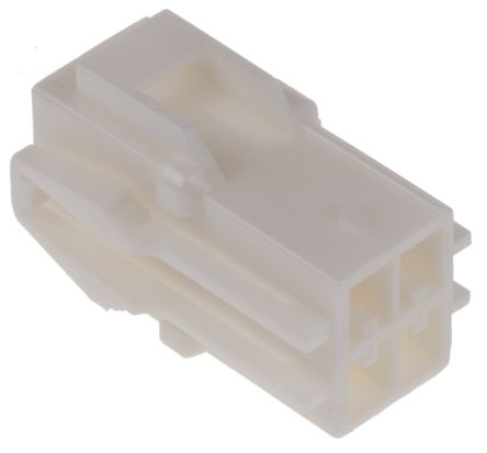 JST , HLR Female Connector Housing, 3.96mm Pitch, 4 Way, 2 Row (5)