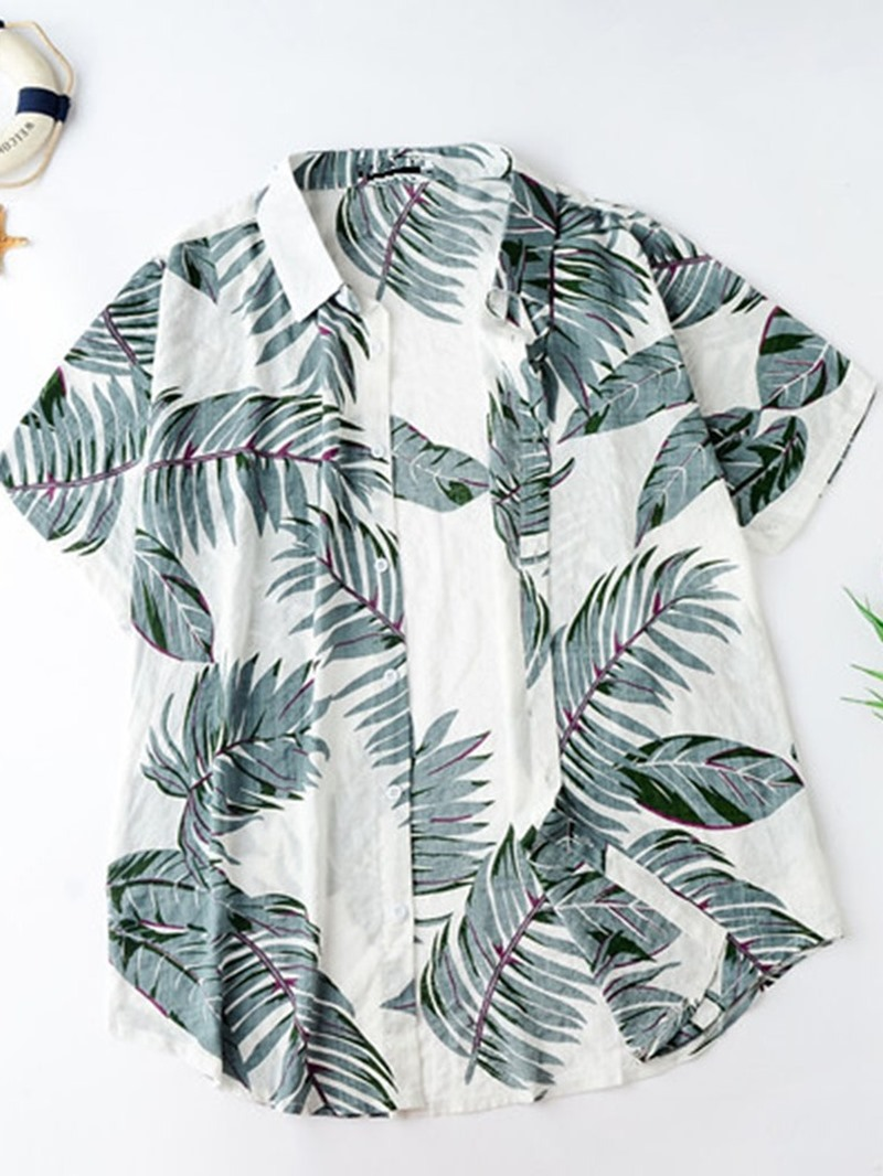 Ericdress Lapel Casual Plant Loose Single-Breasted Shirt