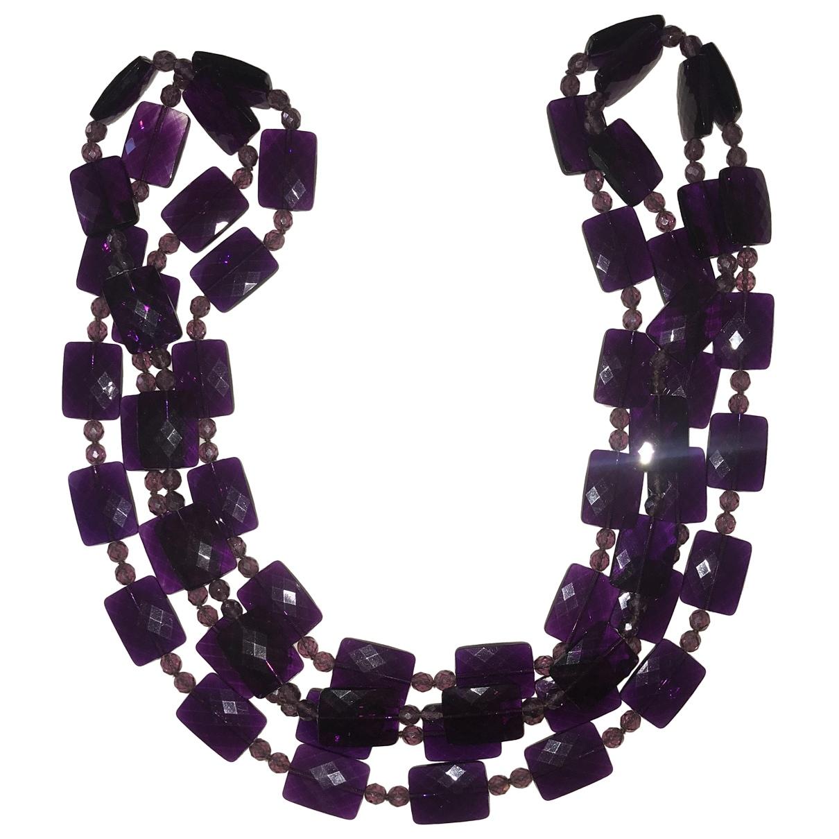 - Sautoir Motifs Ethniques pour femme - violet