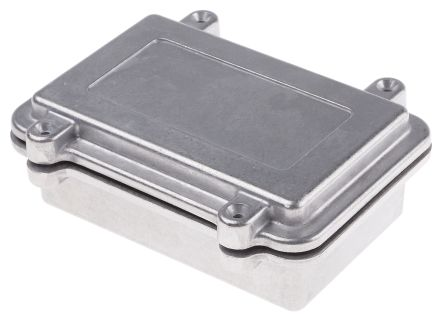 RS PRO Natural Die Cast Aluminium Enclosure, IP67, Shielded, 150 x 100 x 50mm