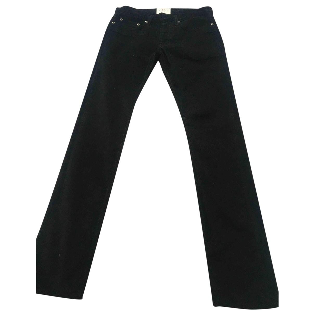 Sandro \N Black Velvet Trousers for Men 38 FR