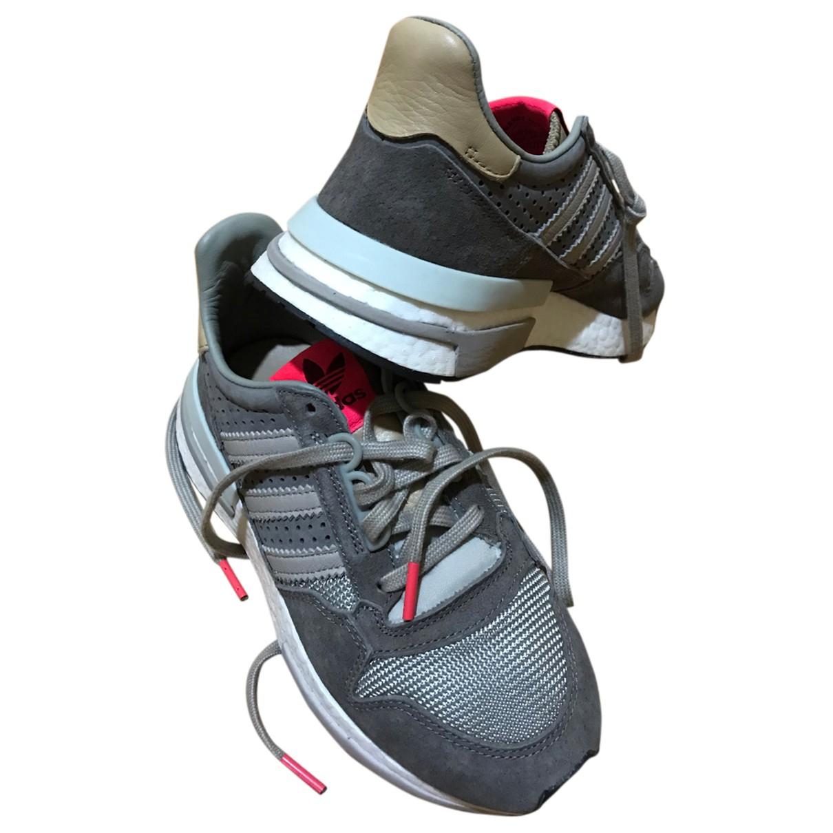 Adidas ZX Sneakers in  Grau Leder