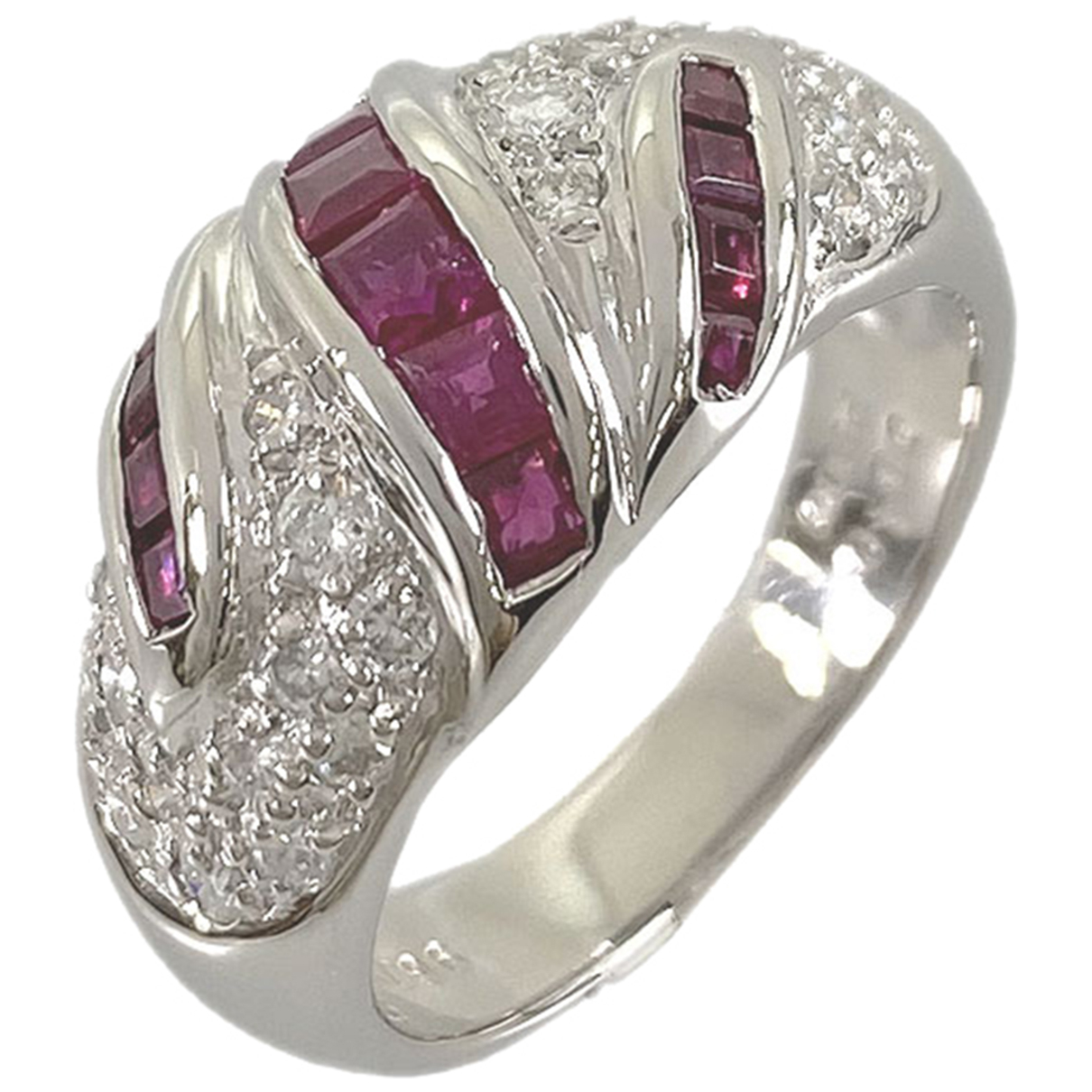 Non Signé / Unsigned N Red Platinum ring for Women 51 EU