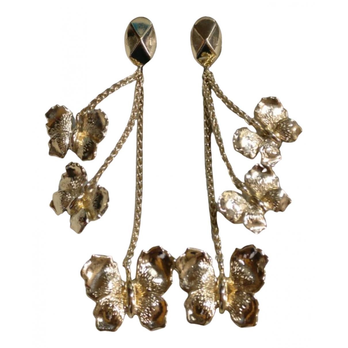 Christian Dior N Gold Metal Earrings for Women N