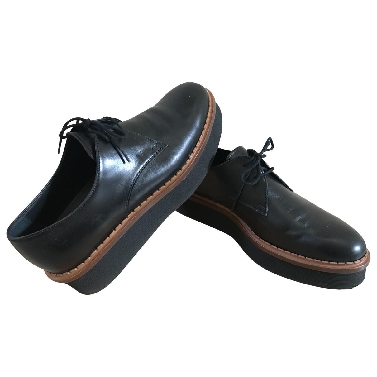 Tods - Derbies   pour femme en cuir - noir