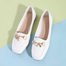 Croc Embossed Square Toe Loafers