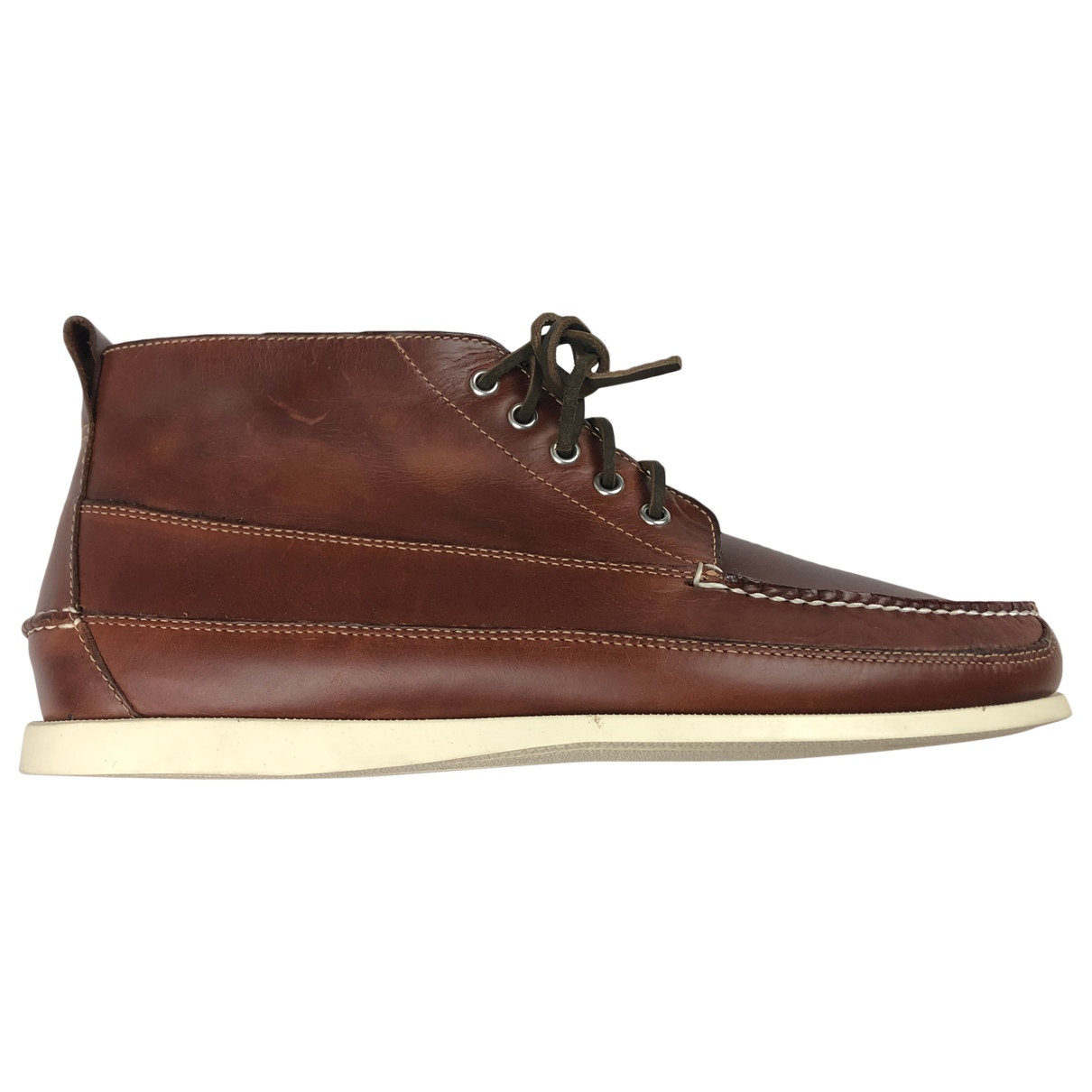 Bass Weejun N Brown Leather Boots for Men 45 EU