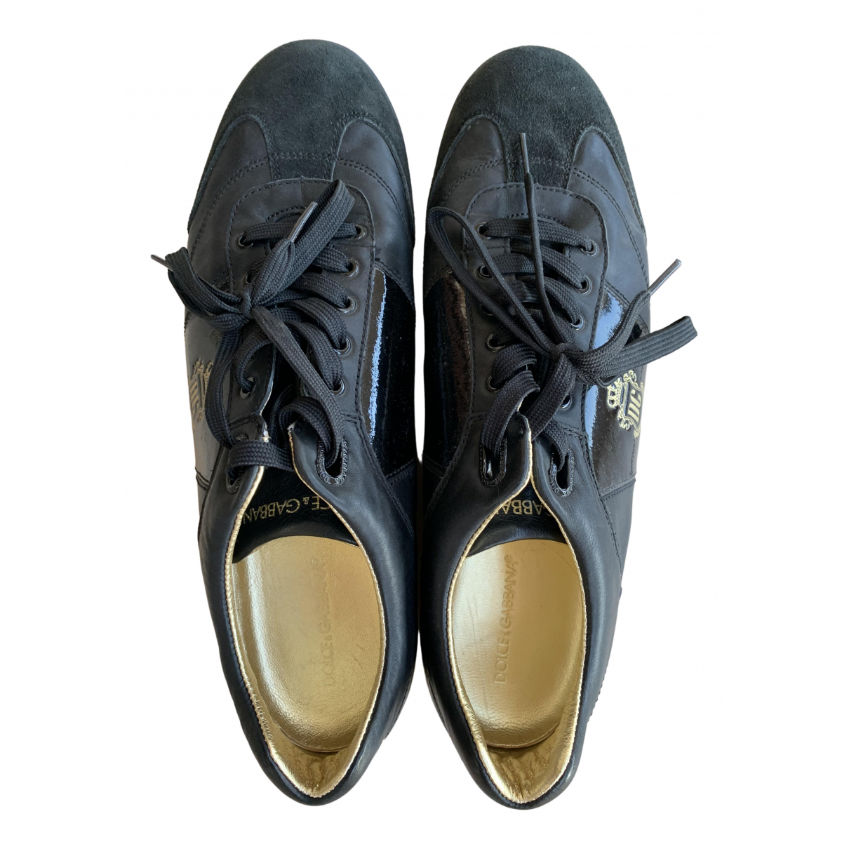 Dolce & Gabbana \N Black Patent leather Trainers for Men 45 EU
