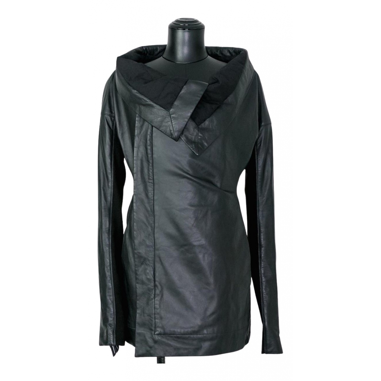Rick Owens N Black Leather jacket for Women 42 IT