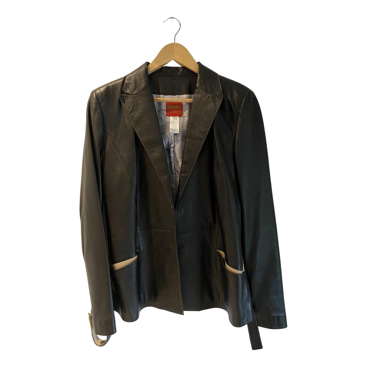 Kenzo - Veste   pour femme en cuir - noir