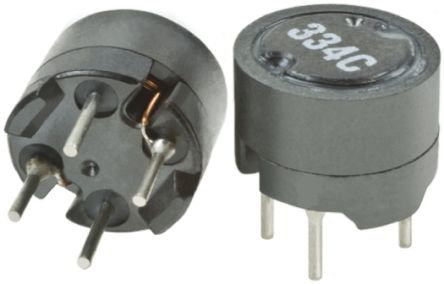 Murata Power Solutions Murata 10 μH ±20% Radial Inductor, 3.4A Idc, 50mΩ Rdc, 1200LRS