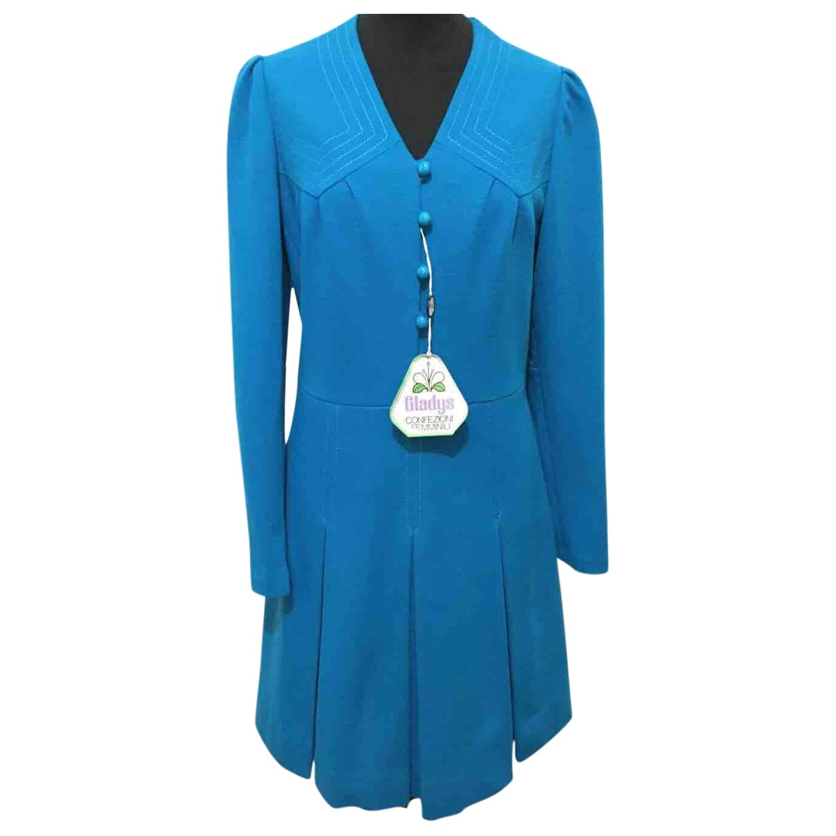 Non Signé / Unsigned \N Blue Wool dress for Women 34 FR
