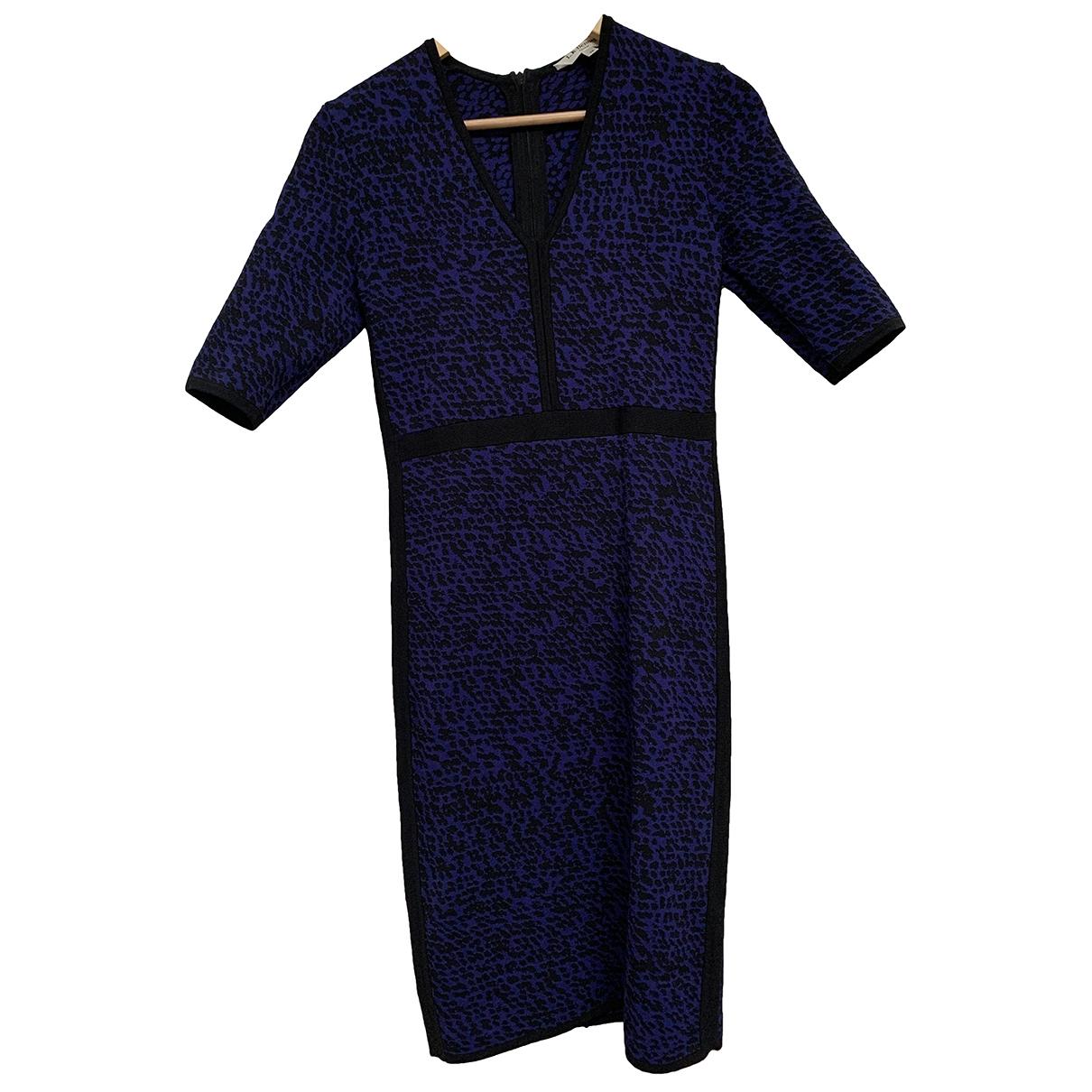 Lk Bennett \N Blue Cotton - elasthane dress for Women 8 UK