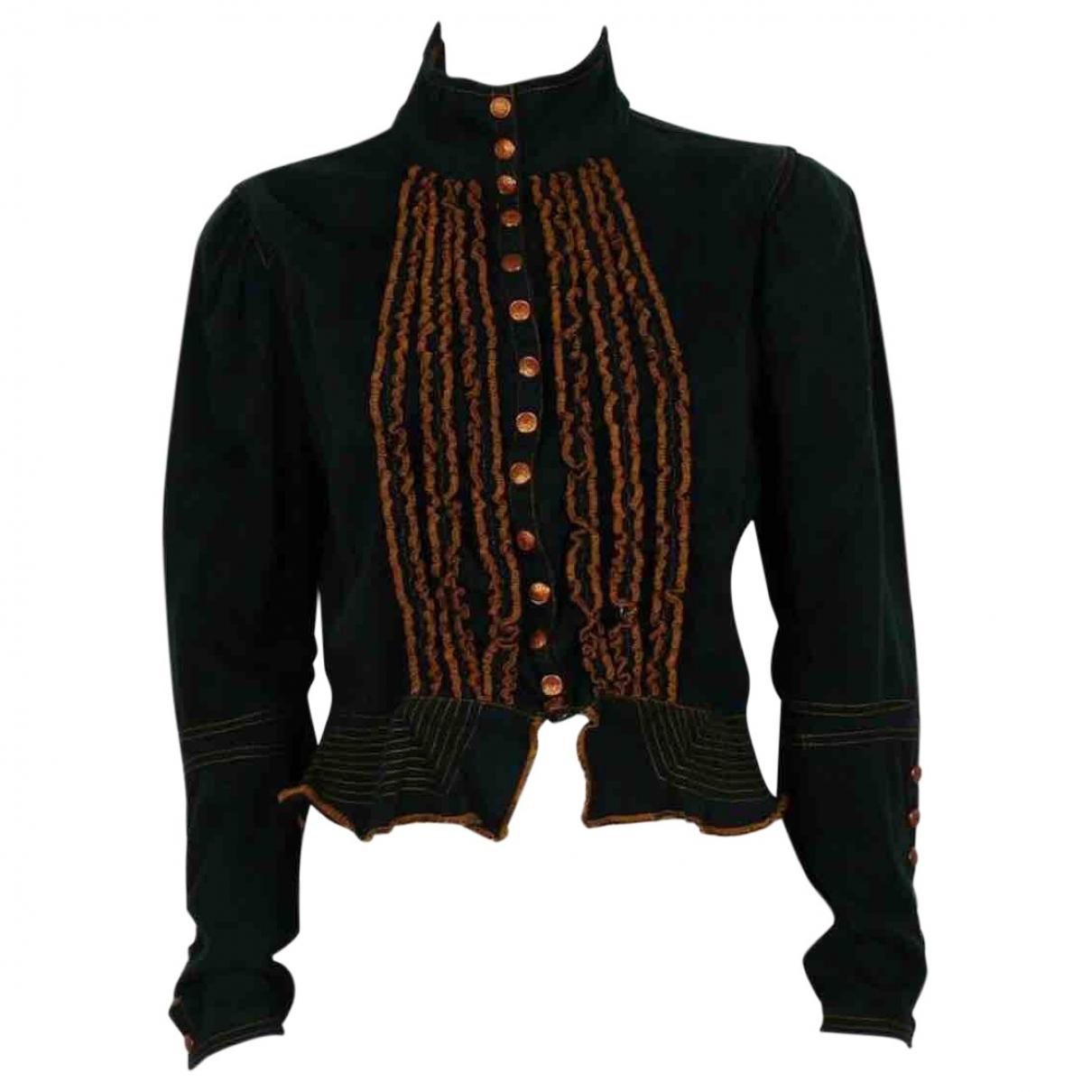 Jean Paul Gaultier \N Black Denim - Jeans jacket for Women 38 FR