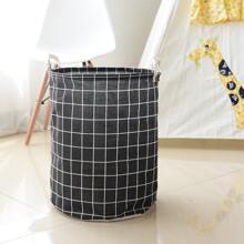 Plaid Pattern Clothes Storage Basket