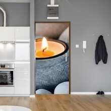 Candle Print 3D Door Mat