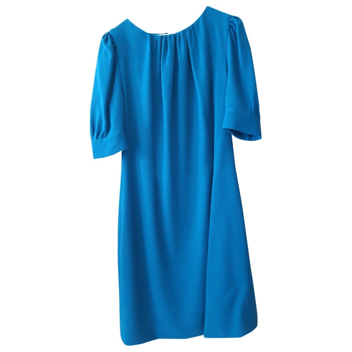 - Robe   pour femme en laine - bleu