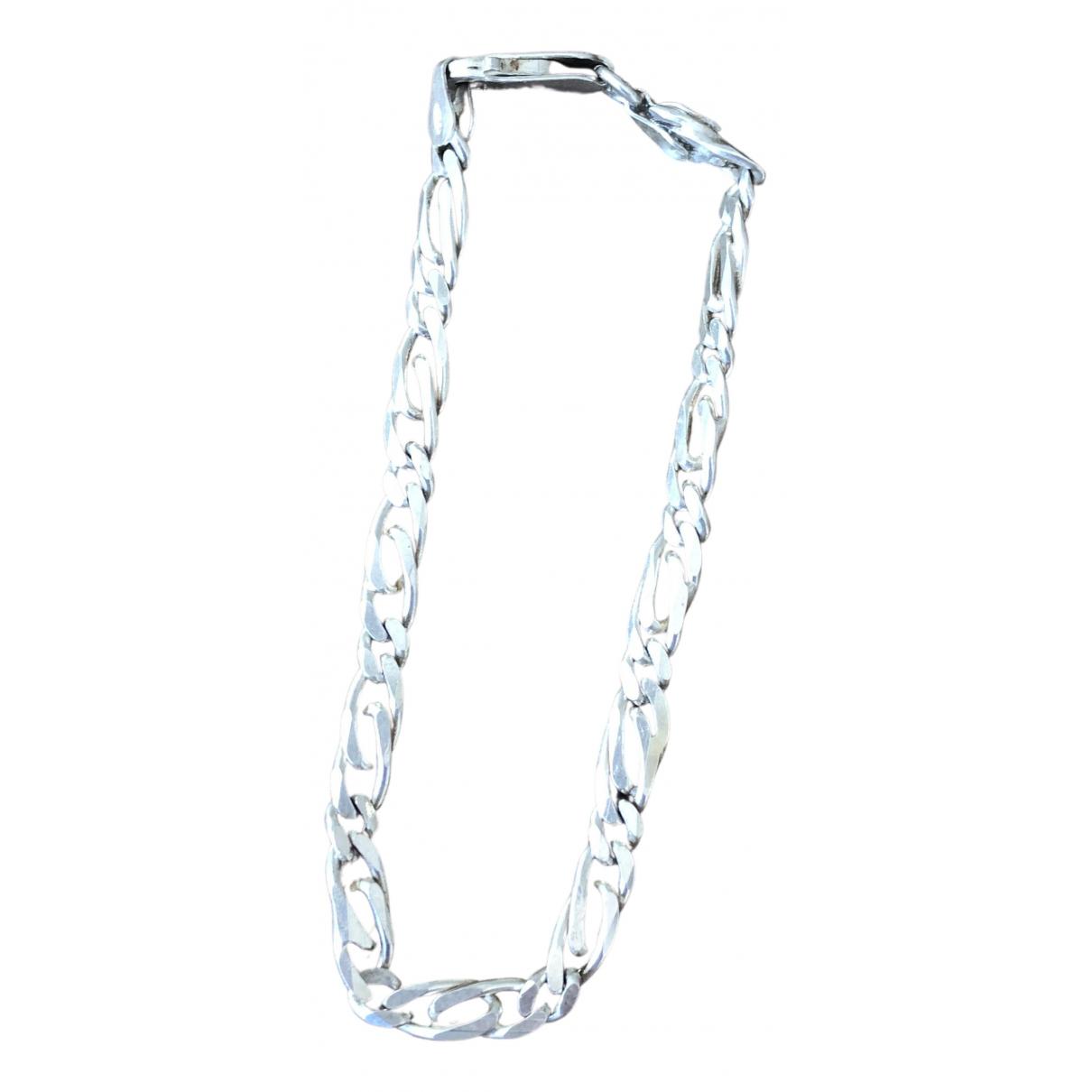 - Bracelet  Maille Americaine pour femme en argent - argente